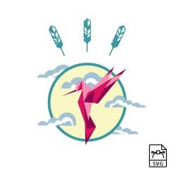 Créoles turquoise & lave